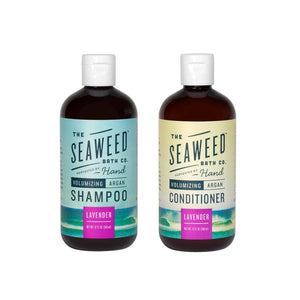 Seaweed Bath Company Lavender Volumizing Argan Shampoo and Conditioner Bundle, 12 fl. oz. each