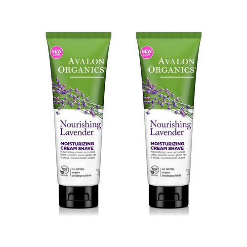 Avalon Organics Nourishing Lavender Moisturizing Cream Shave, 8 fl. oz. (Pack of 2)