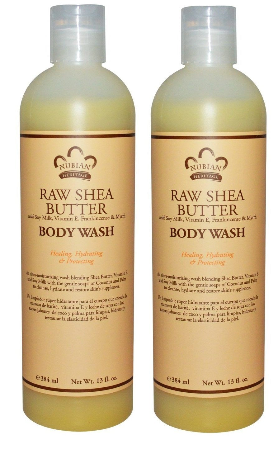 Nubian Heritage Raw Shea Butter Body Wash, 13 fl. oz. (Pack of 2)