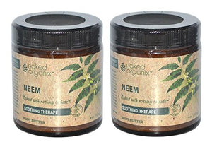 Naked Organix Neem Body Butter (Pack of 2) With Shea Butter, Coconut Oil, Jojoba Seed Oil and Vitamin E, 3.77 fl oz Each
