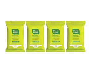 Cleanwell Travel Pack Hand Sanitizer Wipes, 10 ct. (Pack of 4)