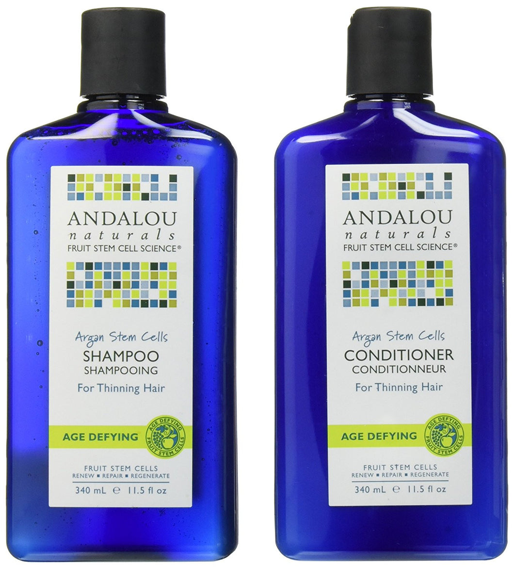 Andalou Naturals Argan Oil Stem Cells Shampoo & Conditioner Bundle, 11.5 fl. oz. each