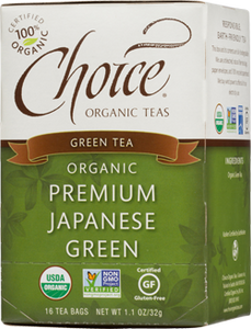 Choice Organic Teas Premium Japanese Green Te - 16 Count