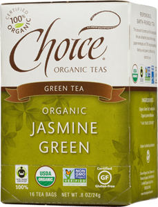 Choice Organic Teas Jasmine Green Tea - 16 Count