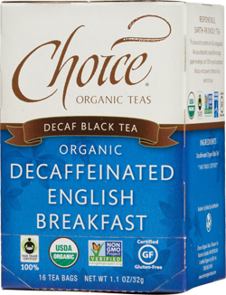 Choice Organic Teas Decaffeinated English Breakfast - 16 Count