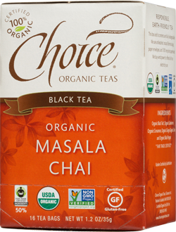 Choice Organic Teas Masala Chai Tea - 16 Count
