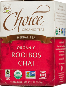 Choice Organic Teas Rooibos Chai - 16 Count