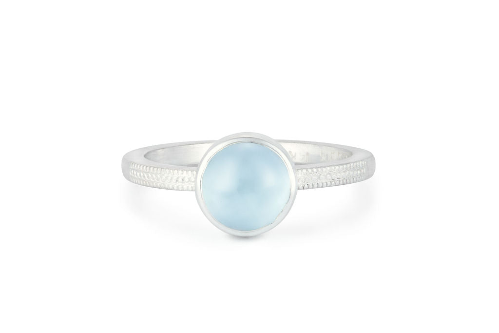 Sea Foam Aquamarine Ring