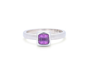 Antique Square Amethyst Ring