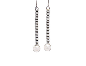 Long Spiral with Pearl Earrings