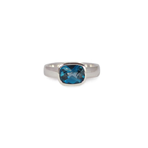 Antique Cut London Blue Topaz