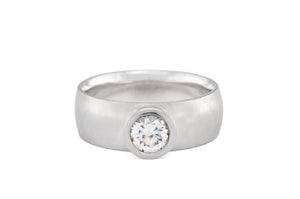 Modern Bezel Set Diamond Ring
