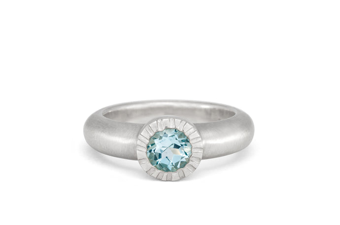 Bezel Set Blue Topaz Ring