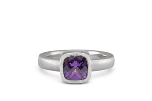 Antique Cushion Cut Amethyst Ring