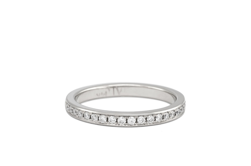 Pavé Diamond Half Eternity Ring