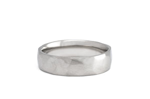 Chiseled Wedding Band