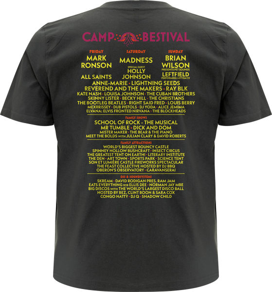 Camp Bestival 2017 'Event Logo'  Charcoal T-Shirt