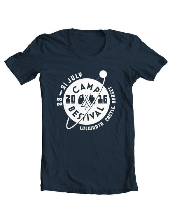 Camp Bestival 2016 'Collegiate' Navy T Shirt