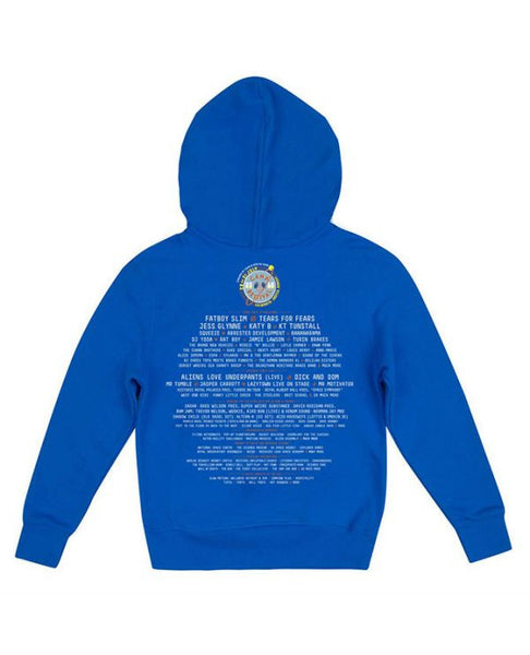 Camp Bestival 2016 'Event Logo' Kids Blue Hoodie