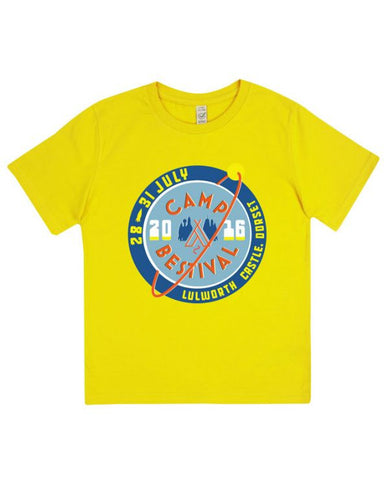 Camp Bestival 2016 'Event Logo' Kids Yellow T Shirt