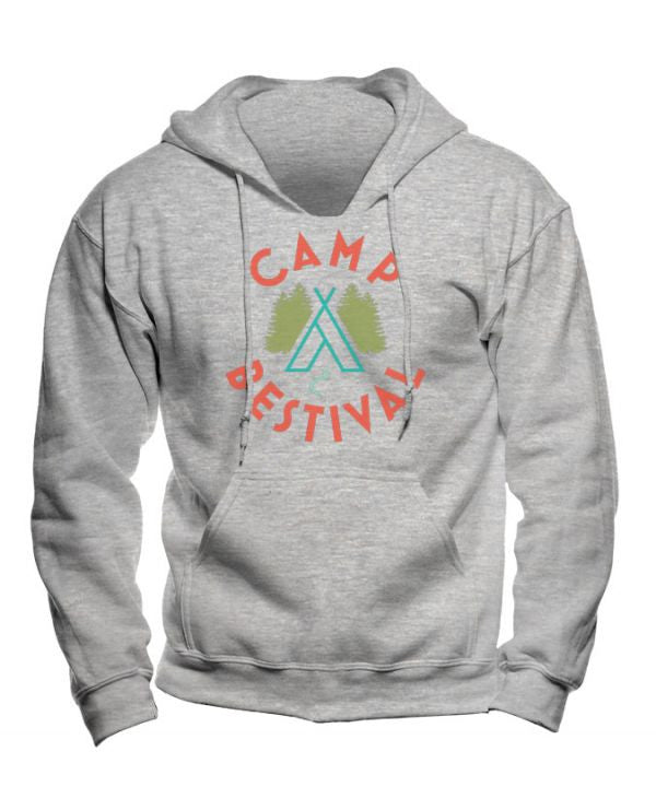 Camp Bestival 2015 'Wigwam Event' Heather Grey Youth Hoodie