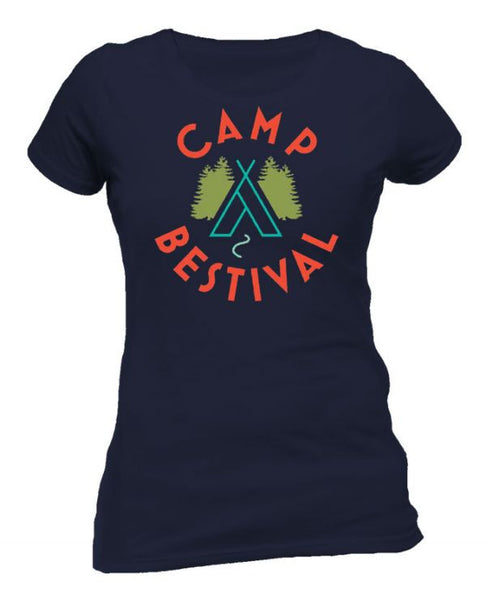 Camp Bestival 2015 'Wigwam Event' Navy Ladies T Shirt