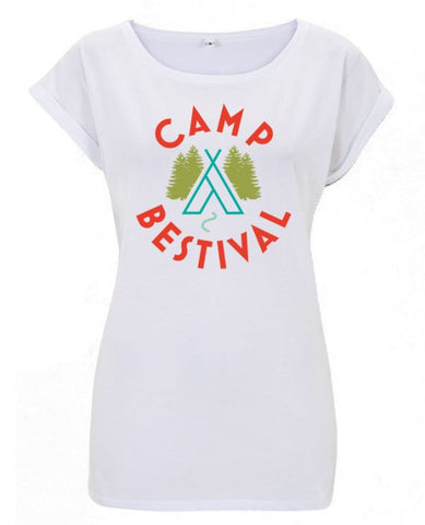 Camp Bestival 2015 'Wigwam Event' White Ladies T Shirt