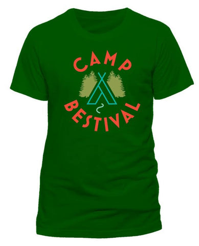 Camp Bestival 2015 'Wigwam Event' Forest Green T Shirt