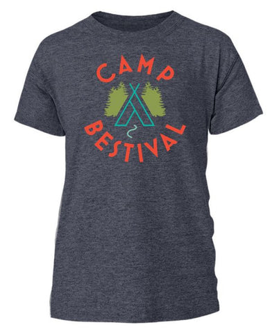 Camp Bestival 2015 'Wigwam Event' Heather Navy T Shirt
