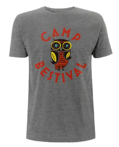 Camp Bestival 2015 'Owl Event' Sport Grey T Shirt