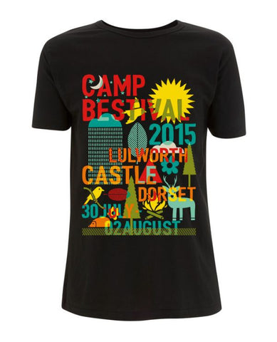 Camp Bestival 2015 'Block Environment' Black T Shirt