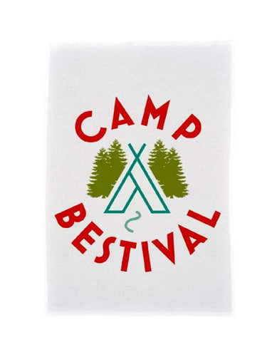 Camp Bestival 2015 'Wigwam Logo' White Tea Towel