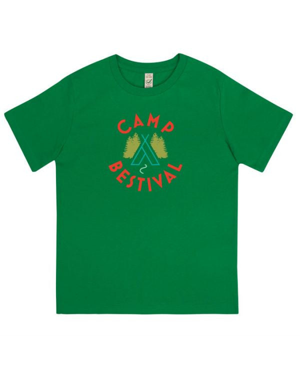 Camp Bestival 2015 'Wigwam Event' Forest Green Youth T Shirt