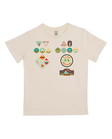 Camp Bestival 2015 'Badges' Sand Youth T Shirt