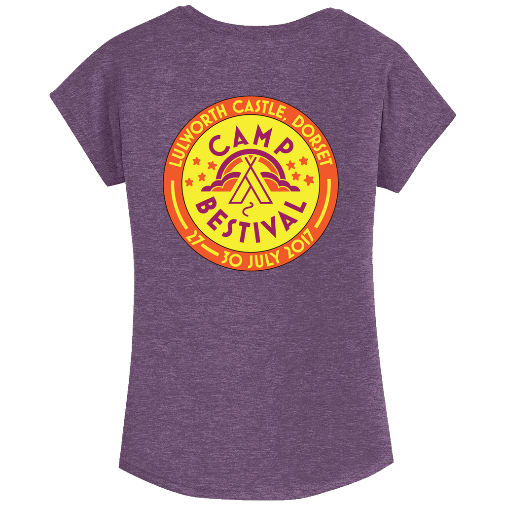 Camp Bestival 2017 'Event Logo'  Ladies Heather Purple T-Shirt