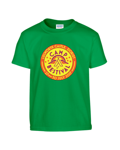 Camp Bestival 2017 'Event Logo' Kelly Green Kids T-Shirt
