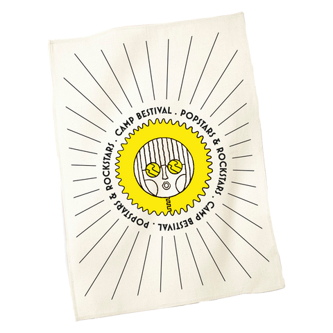 Camp Bestival 2017 'Circle Sun' Tea Towel