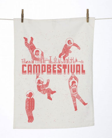 Camp Bestival 2016 'Astronaut Logo' Tea Towel