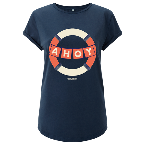 Camp Bestival 2018 'Ahoy' Syone Wash Denim Ladies T-Shirt