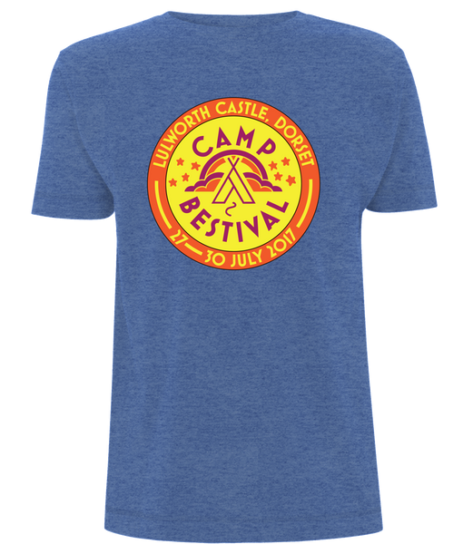 Camp Bestival 2017 'Event Logo'  Heather Royal Blue T-Shirt