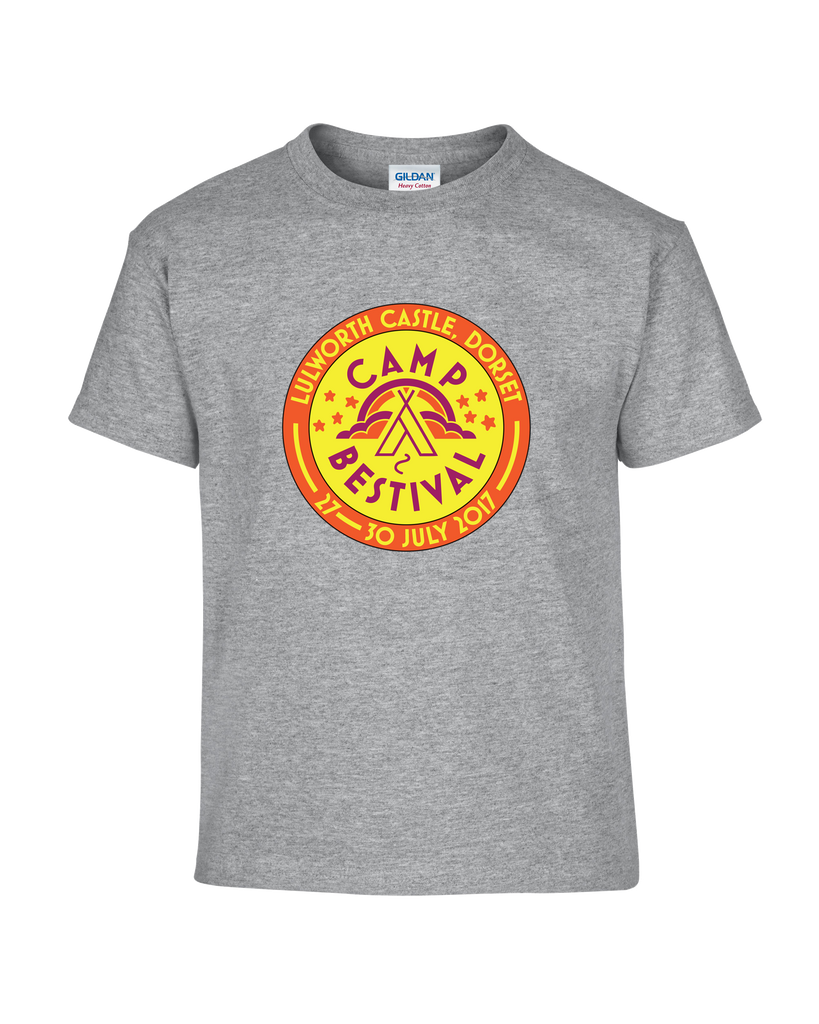 Camp Bestival 2017 'Event Logo' Sport Grey Kids T-Shirt