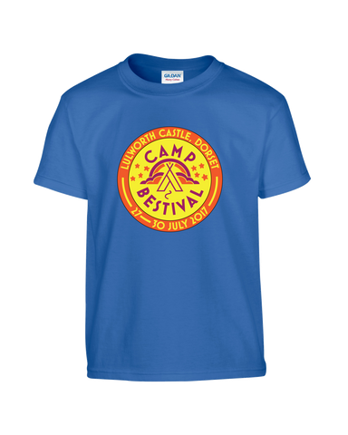 Camp Bestival 2017 'Event Logo' Royal Blue Kids T-Shirt