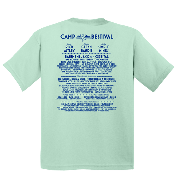 Camp Bestival 2018 'Character Event' Mint White Kids T-Shirt