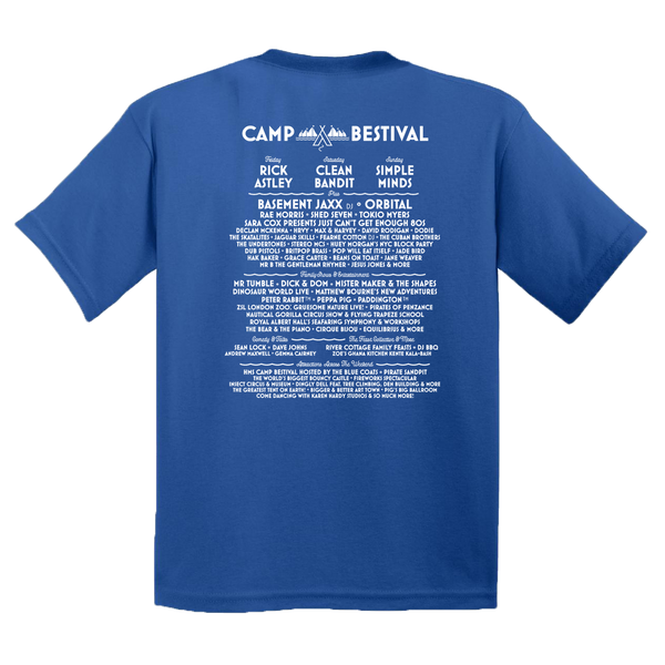 Camp Bestival 2018 'Event Logo' Royal Blue Kids T-Shirt