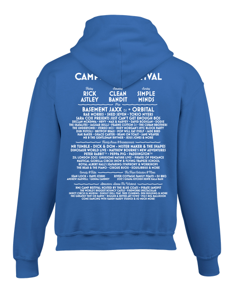 Camp Bestival 2018 'Character Event' Royal Blue Kids Hoodie