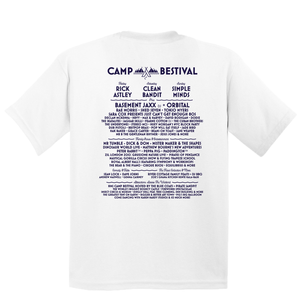 Camp Bestival 2018 'Barnacle Bob' White Kids T-Shirt