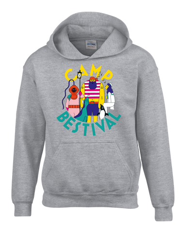 Camp Bestival 2018 'Character Event' Sports Grey Kids Hoodie