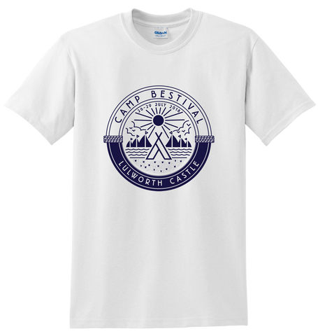 Camp Bestival 2018 'Outdoors Logo' White T-Shirt