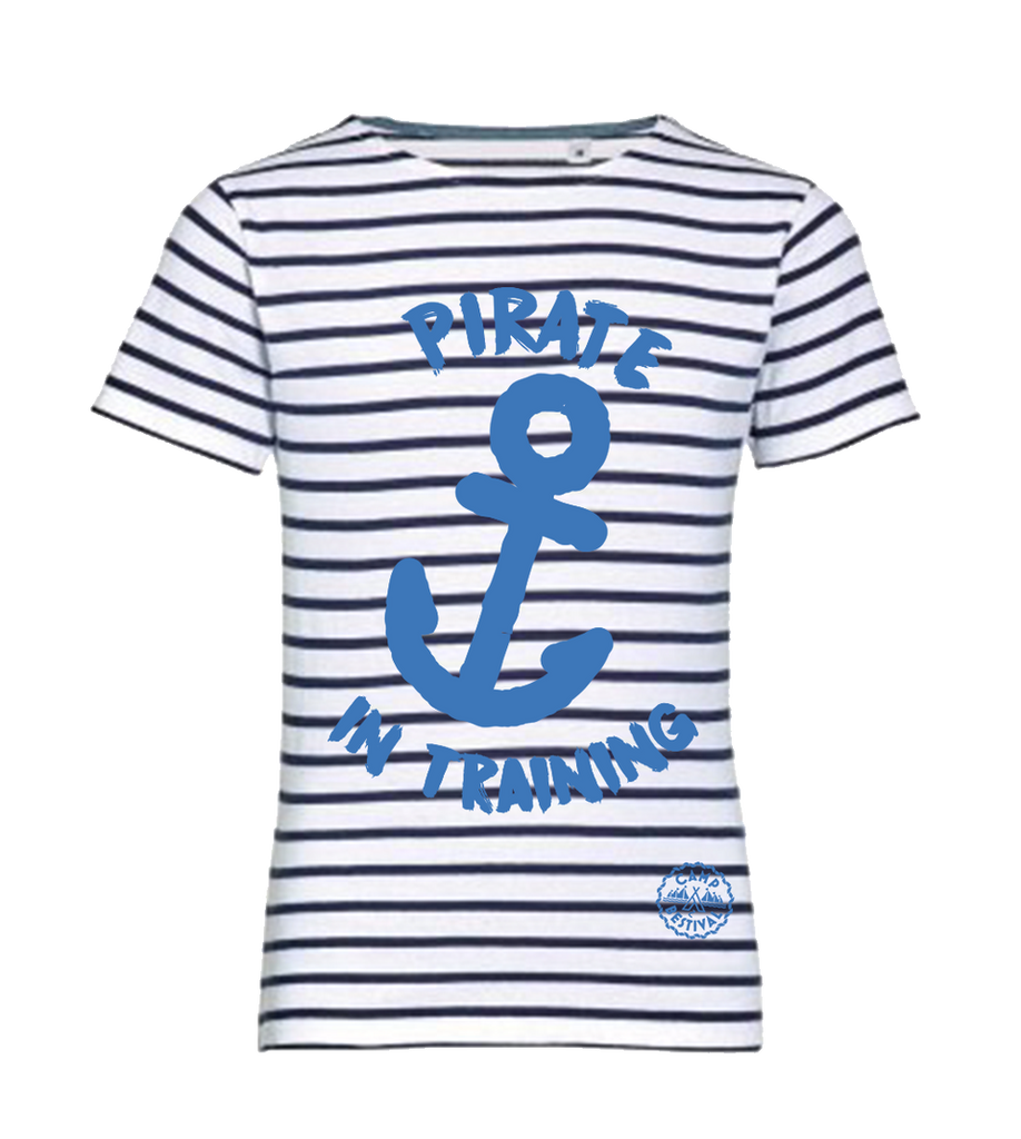 Camp Bestival 2018 'Pirate in Training' Striped Kids T-Shirt