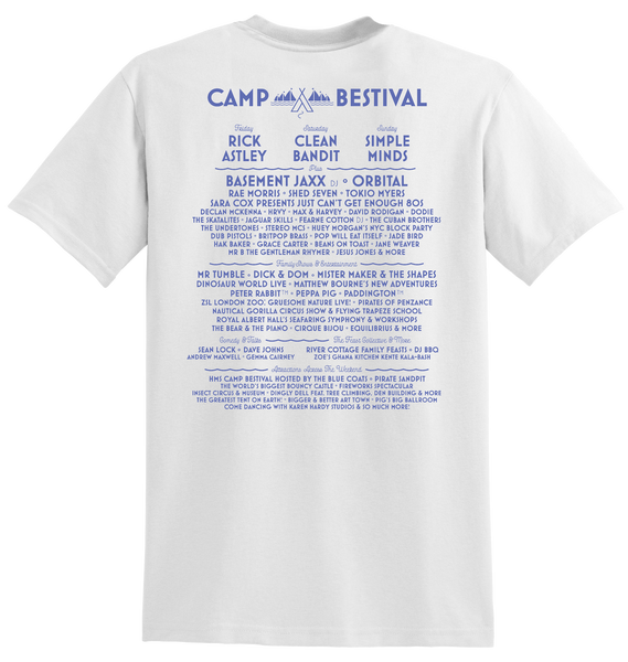 Camp Bestival 2018 'Ships' White T-Shirt